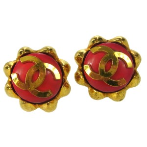 Chanel Chanel Vintage CC Clip-On Earrings
