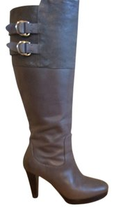 Cole Haan Tall Leather Grey Boots
