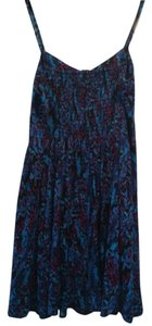 Express short dress Black/blue/pink on Tradesy