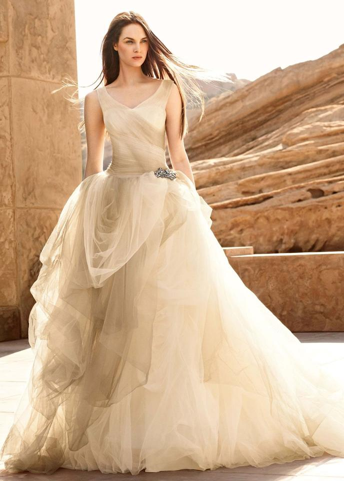 Vera Wang Ombre Tulle Ball Gown Feminine Wedding Dress Size 8 (M ...