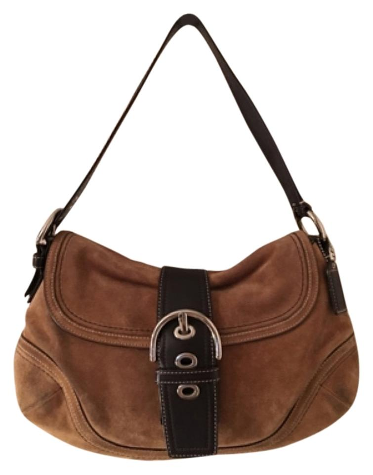 Coach F10918 Brown Leather Suede Shoulder Bag - Tradesy 5a2c387894eb7