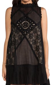 Free People Embroidered Festive Party Lace Sleeveless Dress