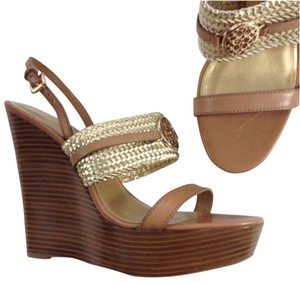 f84b484e7c384 Gold Coach Sandals - Up to 90% off at Tradesy