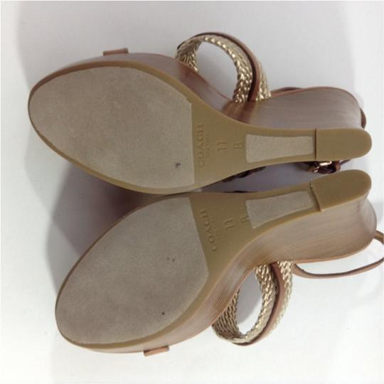 Coach Gold Sandals Image 4