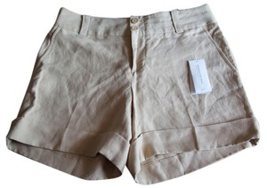 Banana Republic Cuffed Shorts Tan