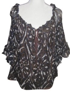 Cynthia Steffe Silk Lined Boho Top Multi-Color