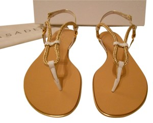 Casadei Sweet Sail Top Strap Adjusts Rolled Straps Made In Italy White Sandals