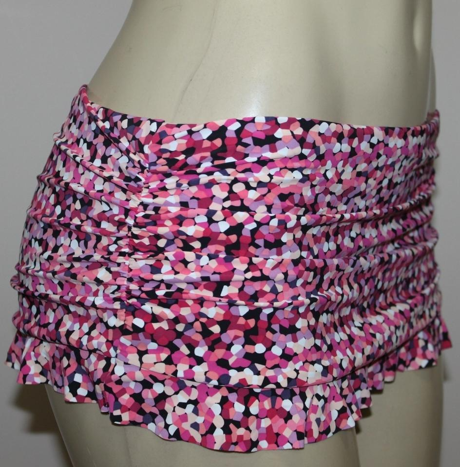 Gottex Pink Flirty Skirted Hipster Swimsuit Bikini Bottom Size 12 (L) 70%  off retail