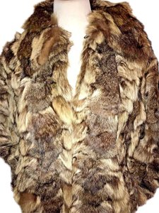 Other Vintage No Size Tag Original RABBIT fur multi-color Jacket