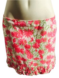 Lilly Pulitzer Mini Skirt White and pink