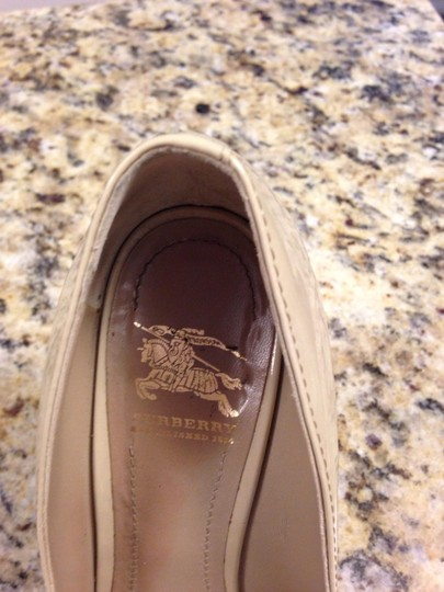 Burberry Patent Leather Studded Nude Pumps