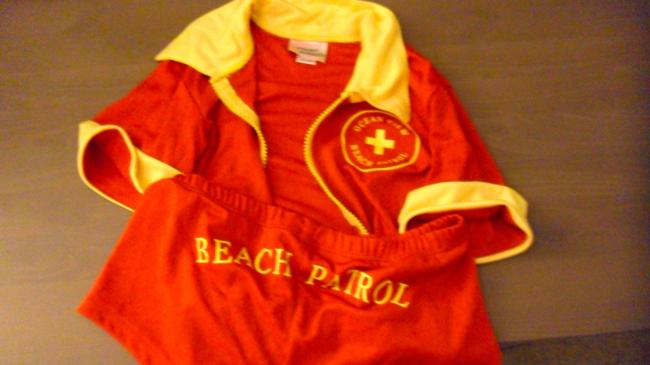 Item - Red Sexy Bay Watch Life Guard Halloween Costume Above Knee Night Out Dress Size 2 (XS)