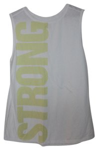Old Navy NWT Old Navy Go-Dry Muscle Graphic Tank Top White Large Cotton Blend