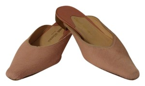 Gianni Milanesi Slip-ons Horsehair Italian Unique Flats Pink Mules