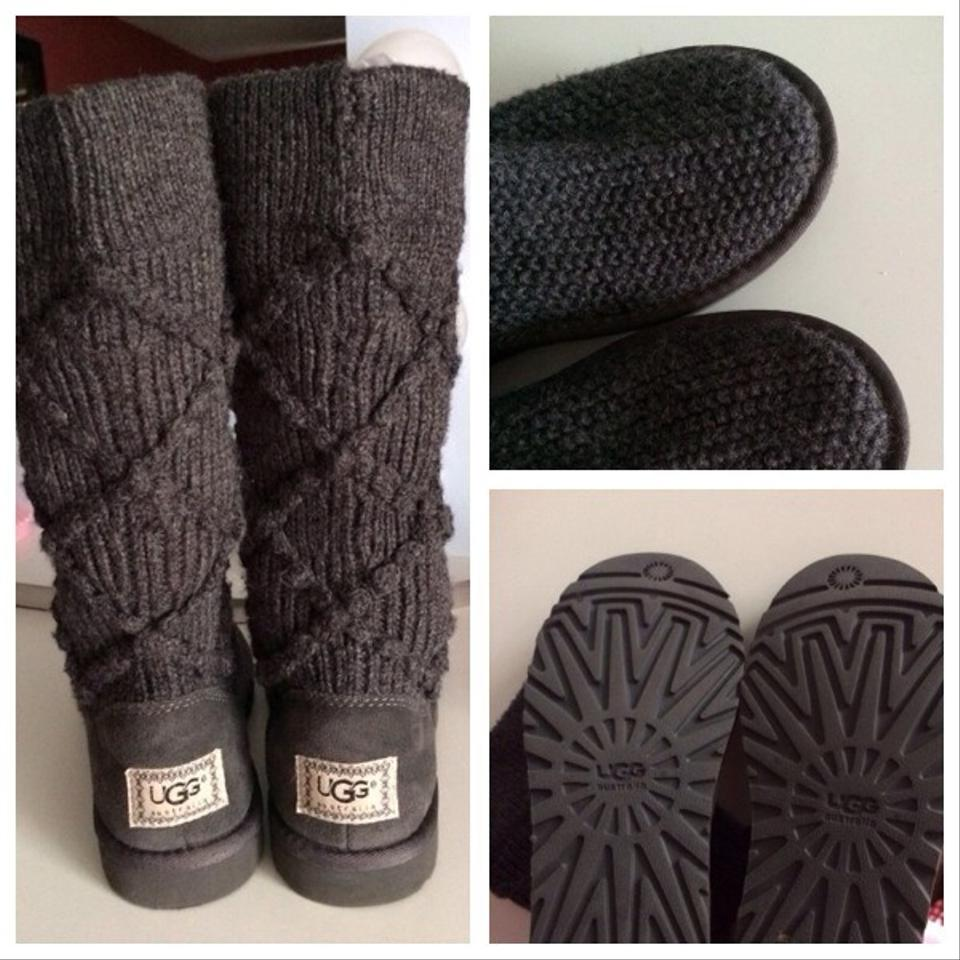 bf35d6c1f2e UGG Australia Cardyl Knit Argyle Boots/Booties Size US 7