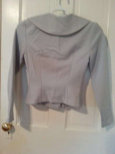 XOXO Suit Down Longsleeve Professional Work Grey with Pearly Pink Buttons Blazer