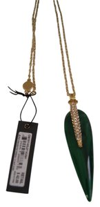Vince Camuto Vince Camuto Gold -Tone Green Resin Pave Spike Pendant Necklace 32