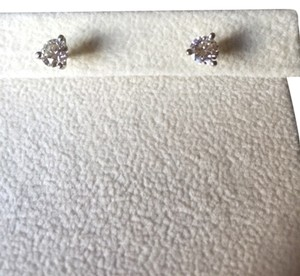 David Clay Jewelers San Francisco stunning diamond studs in three prong setting - original bill