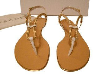 Casadei Sweet Sail Rolled Strap Top Strap Adjusts Made In Italy White Sandals