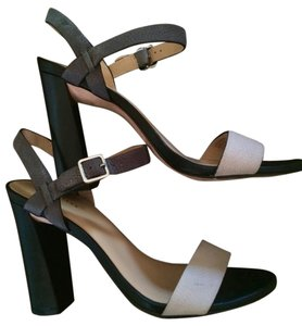Cole Haan Heels Cee Black and brown and dove grey leather - straps Platforms
