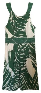 BCBGMAXAZRIA short dress Green/Cream Halter on Tradesy