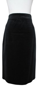 J.Crew Pencil Polka Dot Velvet Skirt Black
