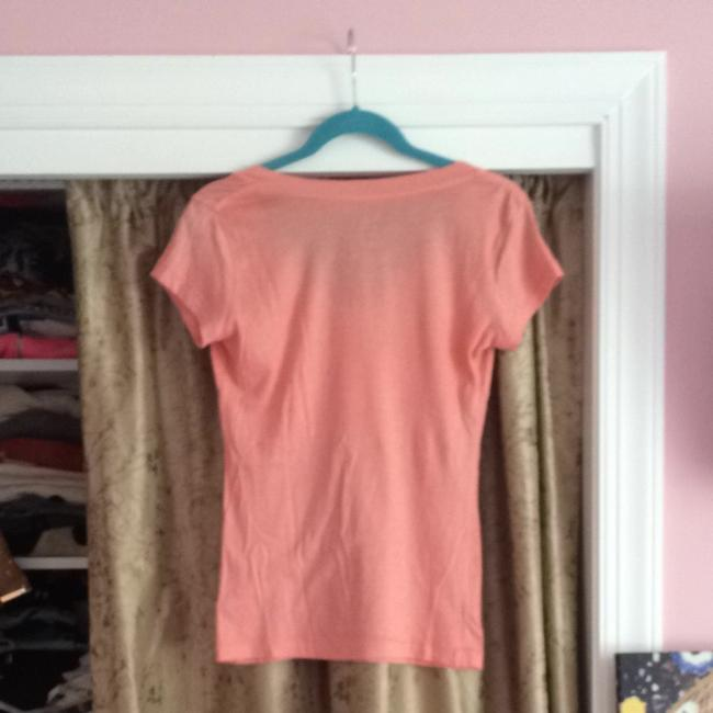 Urban Outfitters Bright V-neck T Shirt Neon Orange