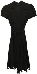 BCBGMAXAZRIA Cotton Belted Dress