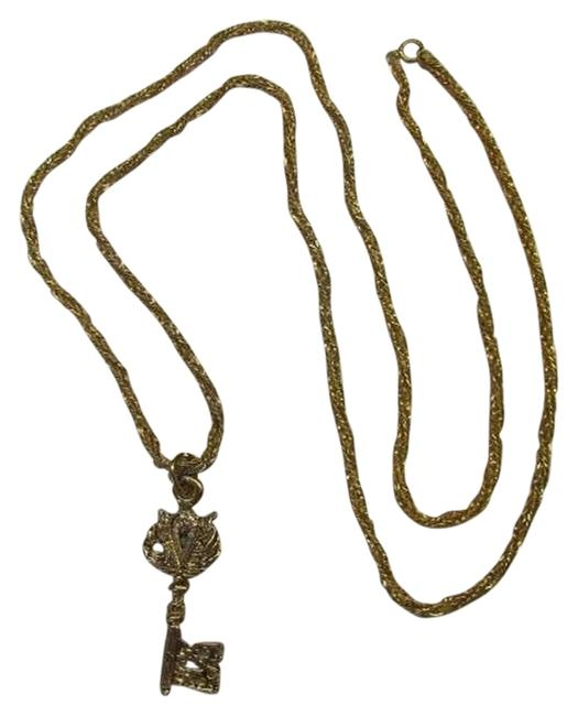 Gold Tone Key Necklace Gold Tone Key Necklace Image 1