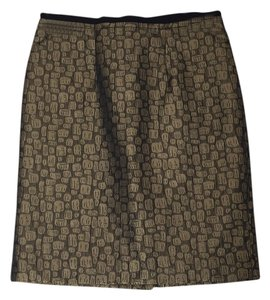 Ann Taylor LOFT Skirt Gold/black