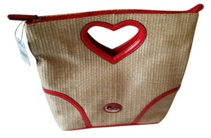 XOXO Purse Hearts Hearts Purse Satchel in Red Accents Straw