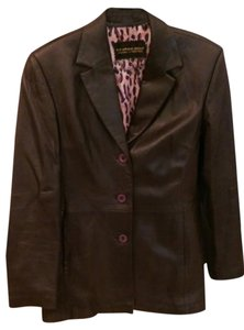 Nordstrom Leather Soft Brown Leather Jacket