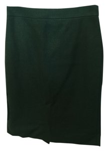 J.Crew Pencil Jcrw Pencil No. 2 Pencil Wool Double Serge Wool Work Work Green Green Pencil Skirt Dark Green
