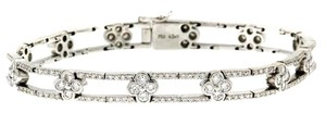 Designer High end 18k 4.5 CARATS Diamonds bracelet - 10k look