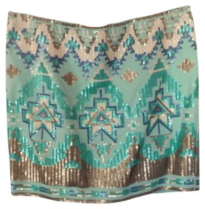 Coveted Clothing Mini Skirt Turquoise