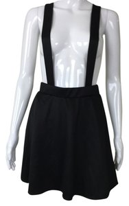Other Suspenders Skater Mini Skirt Black