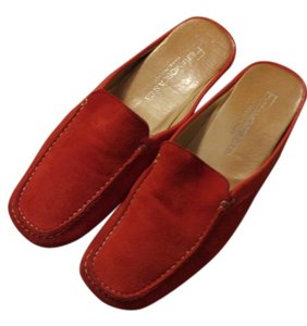 Fieramosca Flats Casual Slip-ons Drivers Red suede Mules