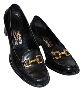 Salvatore Ferragamo Loafers Chunky Loafer Spring Leather Designer Black Pumps