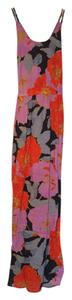 Purple/Blue/Orange Print Maxi Dress by Ann Taylor LOFT Maxi Maxi Printed Maxi Summer