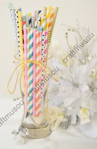 50 Pieces Paper Drinking Straws Other