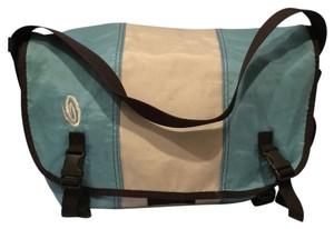 Turquoise / Silver Messenger Bag
