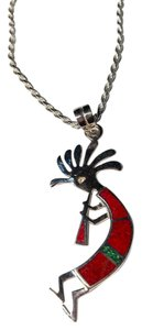 Kokopelli Pendant Sterling Silver on Sterling Silver Chain N060