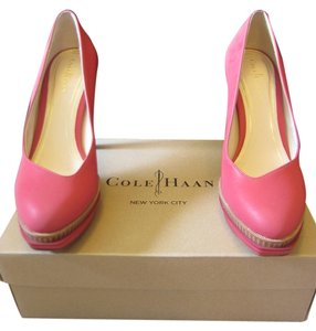 Cole Haan Chelsea Double Platform Reflective Reflective Red Pumps