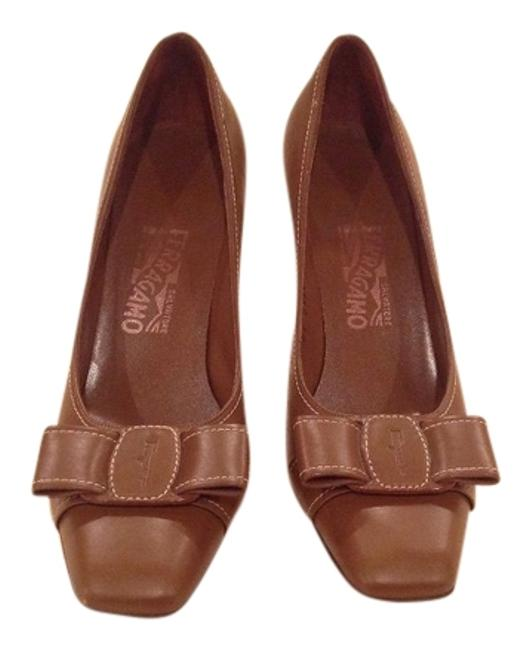 Item - Brown Heels with Bow Mules/Slides Size US 8 Regular (M, B)