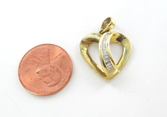 Other 18kt Yellow Gold Heart pendant with 18 Diamonds