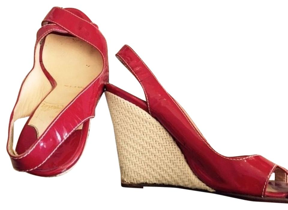 5be45539e61 Red 35 Patent Leather Wedges