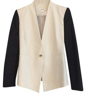 Helmut Lang White with black sleeves Blazer