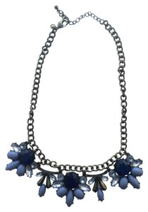 J.Crew J.Crew Blue and Gold Statement Necklace