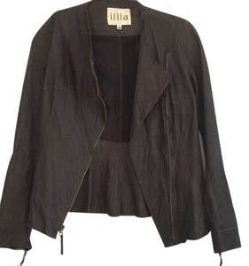 Illia Dark brown Leather Jacket