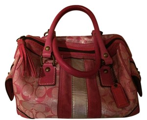 Coach Tassel Satchel in Multi-shade pink